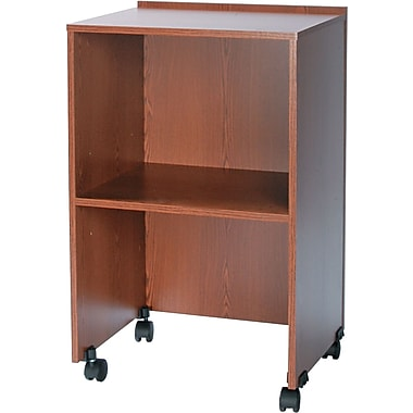 Safco Tabletop Lecterns & Media Carts, Laminate Wood, Medium Oak