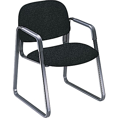HON® Solutions Seating® 4000 Series 100% Olefin Guest, Black, 32 1/2in.H