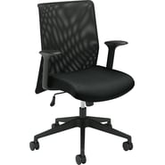 basyx by HON VL570 Series Mesh Chairs 100% Polyester Guest, Black