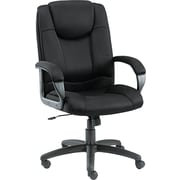Alera ALELG41ME10B Logan Mesh High-Back Managers Chair with Fixed Arms, Black