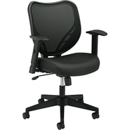 basyx by HON HVL551 Mesh Back Task/Computer Chair for Office and Computer Desks, Black