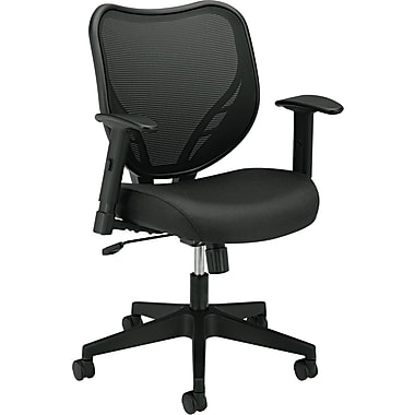 basyx ® VL550 Series Mesh Chairs 100% Polyester Guest, Black