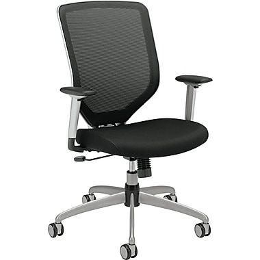 HON Boda Mesh Back Task/Computer Chair for Office and Computer Desks, Arms, Black