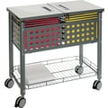 Vertiflex™ Mobile File Carts Steel, Wire, Matte Gray, 28 3/8in.H x 29 1/8in.W x 14in.D