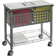 Vertiflex™ Mobile File Carts Steel, Wire, Matte Gray, 28 3/8H x 29 1/8W x 14D