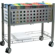 Vertiflex™ Mobile File Carts Steel, Wire, Matte Gray, 27 3/8in.H x 28 1/4in.W x 13 3/4in.D