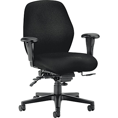 HON® HON7828NT10T 7800 Series Fabric Mid-Back Office Chair with Adjustable Arms, Black