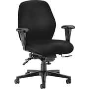 HON® HON7828NT10T 7800 Series Fabric High-Back Office Chair with Adjustable Arms, Black