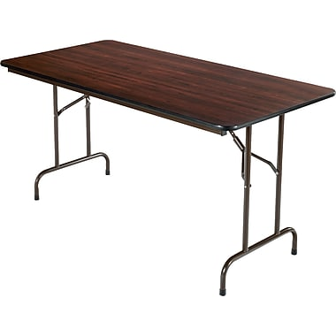 Alera® Melamine Folding Tables Melamine Walnut, 5'