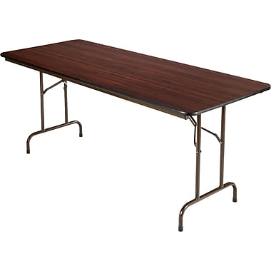 Alera® Melamine Folding Tables Melamine Walnut. 6'