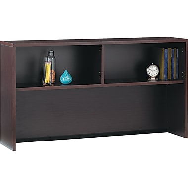 Global® Genoa™ Open Hutch, 36in.H x 66in.W x 15in.D, Dark Espresso