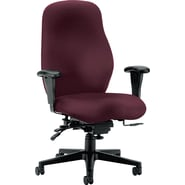 HON® 7800 Series Seating Tectonic 100% Polyester General Office, Wine, 47in.H x 30 1/2in.W x 37in.D