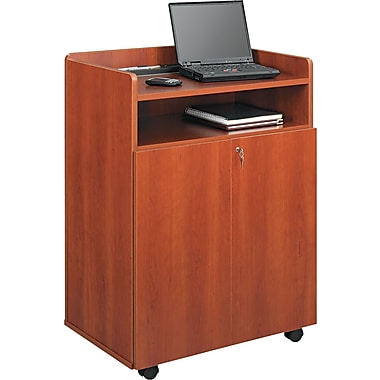 Safco ® 20 1/2in.D Mobile Presentation Stand, Cherry