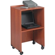 Safco  Tabletop Lecterns & Media Carts, Laminate Wood, Cherry