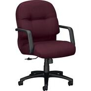 HON  2090 Pillow-Soft  Medium-Back Swivel/Tilt Chair, Burgundy