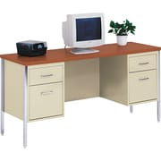 Alera™ Woodgrain Laminate Credenza Oak, Putty