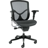 Alera EQ Mid-Back Ergonomic Multifunctional Chair, Black Base
