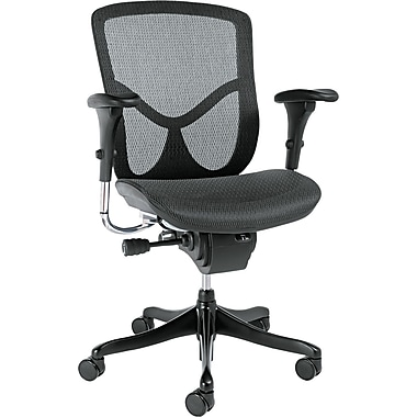 Alera ALEEQA42ME10B EQ Mesh Mid-Back Executive Chair with Adjustable Arms, Black