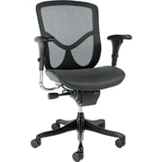 Alera Mesh Executive Office Chair, Adjustable Arms, Black (ALEEQA42ME10B)
