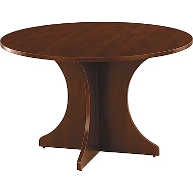 Alera™ Valencia Series 1in.H x 42in.(Dia) Round Table Top, Mahogany