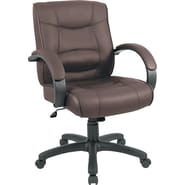 Alera® Strada Series Leather Seating Leather Management Chocolate Brown, 41 3/4in.H x 21in.W x 20in.D