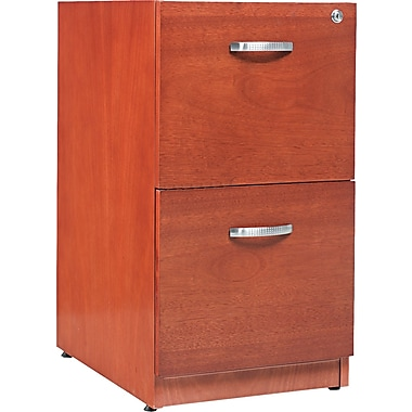 Pedestal File Cabinet With 2 Drawer, 28 1/2in.H x 15 1/4in.W