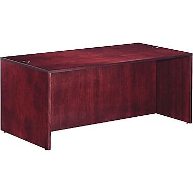 Alera™ Verona Veneer Straight Front Desk Shell, 29 1/2in.H x 71in.W x 35 1/2in.D, Mahogany