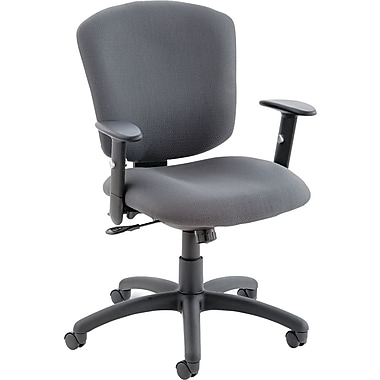 Global ® Supra X Multifunction Plastic Swivel/Tilt Chair, Gray