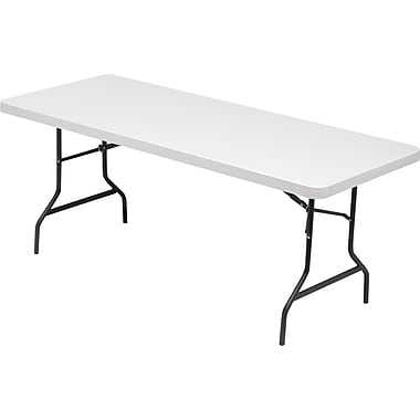 Alera® Folding Table Blow-Molded High-Density Polyethylene Platinum, 29in.H x 72in.W x 30in.D, 500 lbs.