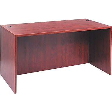 Alera™ Valencia Straight Front Desk Shell, 29 1/2in.H x 59 1/8in.W x 29 1/2in.D, Medium Cherry