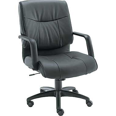 Alera Stratus Series 100% Leather General Office, Black