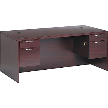 HON® Valido™ 11500 Series Double Pedestal Desk, 29 1/2in.H x 72in.W x 36in.D, Mahogany