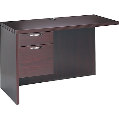 HON® Valido™ 11500 Single Left Return Workstation, 29 1/2in.H x 48in.W x 24in.D, Mahogany