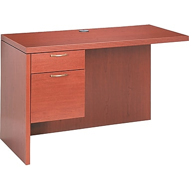 HON® Valido™ 11500 Single Left Return Workstation, 29 1/2in.H x 48in.W x 24in.D, Bourbon Cherry