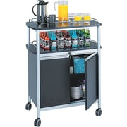 Safco ® Beverage Carts Melamine, Black