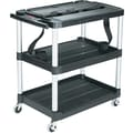 Rubbermaid ® Media Master 32 3/4in.D Audio/Video Cart, Black