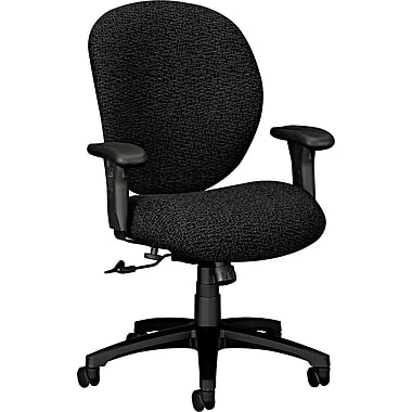 HON® 7600 Unanimous® Mid-Back Adjustable Managerial Chair, Gray