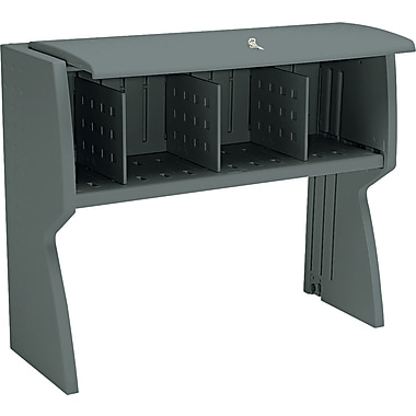 Iceberg® Aspira™ Modular Key Lock Hutch, 36in.H x 43 1/2in.W x 16 1/4in.D, Charcoal Gray