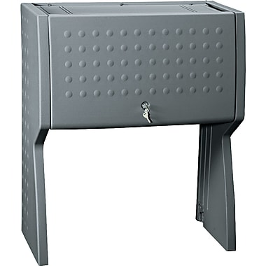 Iceberg® Aspira™ Modular Key Lock Hutch, 36in.H x 30 1/2in.W x 16 1/4in.D, Charcoal Gray