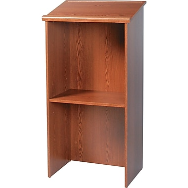 Safco ® 15 3/4in.D Stand Up Lectern, Medium Oak