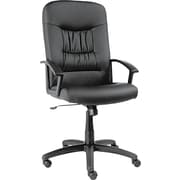 Alera York Series Leather Managers Office Chair, Fixed Arms, Black (ALEYK41LS10B)