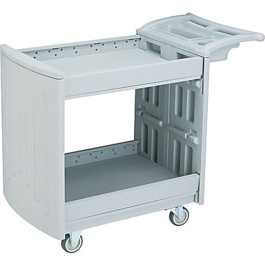 Safco ® 37 1/4in.H x 45in.W x 23in.D Two Shelf Utility Cart, Gray