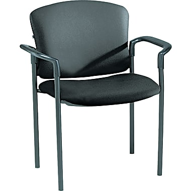 HON ® Pagoda ® 4070 Series Stacking Chairs Vinyl Guest, Black