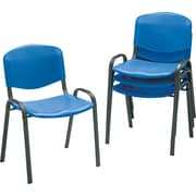 Safco  Stacking Chair Polypropylene Guest, Blue