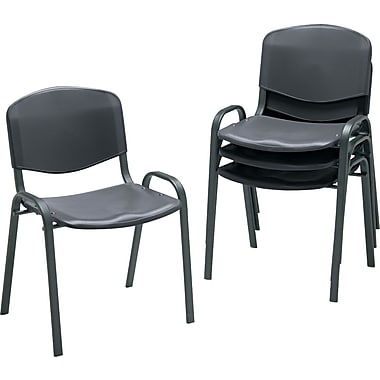 Safco  Stacking Chair Polypropylene Guest, Black