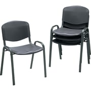 Safco 4185BL Plastic Stack Chair, Black