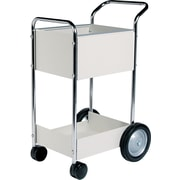"FELLOWES® 39""H x 20""W x 25 1/2""D Steel Mail Cart, Dove Gray"