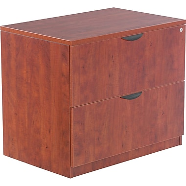 Alera™ Valencia File Cabinet, 29 1/2in.H x 34in.W x 22 3/4in.D, Medium Cherry