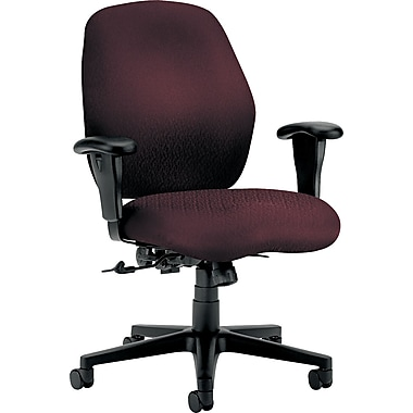 HON® 7800 Mid-Back Task Chair, Burgundy