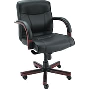 Alera Madaris Leather Managers Office Chair, Fixed Arms, Black (ALEMA42LS10M)